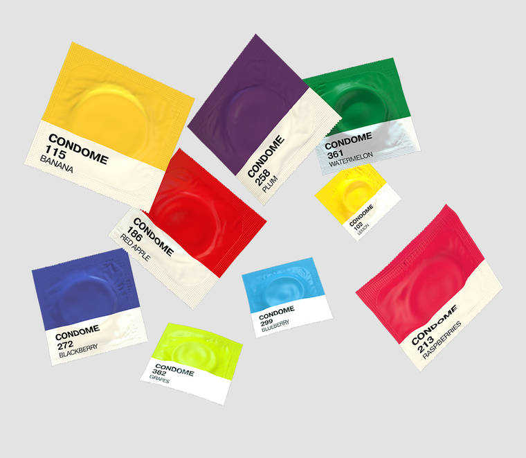 Les condoms pantone