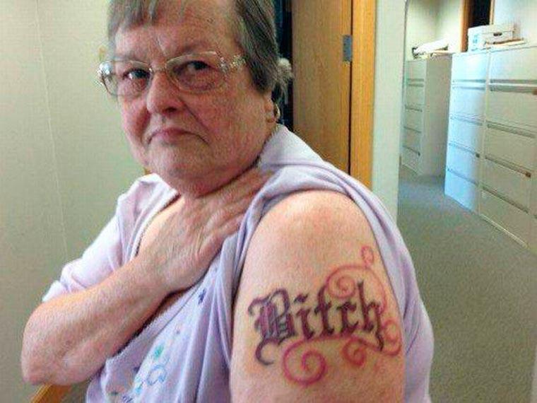 tatouage bitch !