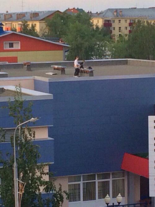 sexe sur le toit