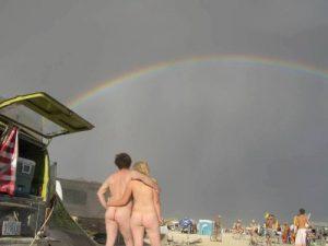 look a rainbow